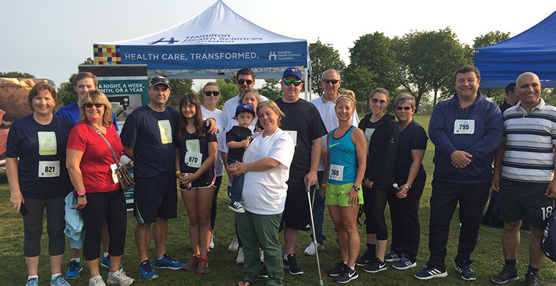 Dufferin Construction Employees at Community Involvement Race